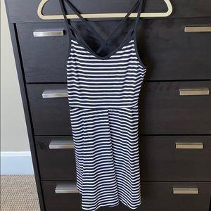 PINK Victoria's Secret striped white & black dress